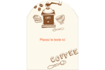Café classique Étiquettes rectangulaires - gabarit prédéfini. <br/>Utilisez notre logiciel Avery Design & Print Online pour personnaliser facilement la conception.