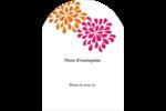 Fête prénuptiale en rose et orange Étiquettes rectangulaires - gabarit prédéfini. <br/>Utilisez notre logiciel Avery Design & Print Online pour personnaliser facilement la conception.
