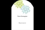 Fleurs bleues et vertes Étiquettes rectangulaires - gabarit prédéfini. <br/>Utilisez notre logiciel Avery Design & Print Online pour personnaliser facilement la conception.