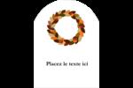 Couronne de glands Étiquettes arrondies - gabarit prédéfini. <br/>Utilisez notre logiciel Avery Design & Print Online pour personnaliser facilement la conception.