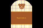 Ours jaune Étiquettes arrondies - gabarit prédéfini. <br/>Utilisez notre logiciel Avery Design & Print Online pour personnaliser facilement la conception.