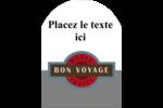 Voyage d'antan Étiquettes arrondies - gabarit prédéfini. <br/>Utilisez notre logiciel Avery Design & Print Online pour personnaliser facilement la conception.