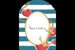 Ancre de Saint-Valentin  Étiquettes arrondies - gabarit prédéfini. <br/>Utilisez notre logiciel Avery Design & Print Online pour personnaliser facilement la conception.