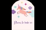 Licorne en fête Étiquettes arrondies - gabarit prédéfini. <br/>Utilisez notre logiciel Avery Design & Print Online pour personnaliser facilement la conception.