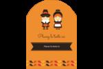 Pèlerins de l'Action de grâce Étiquettes rectangulaires - gabarit prédéfini. <br/>Utilisez notre logiciel Avery Design & Print Online pour personnaliser facilement la conception.