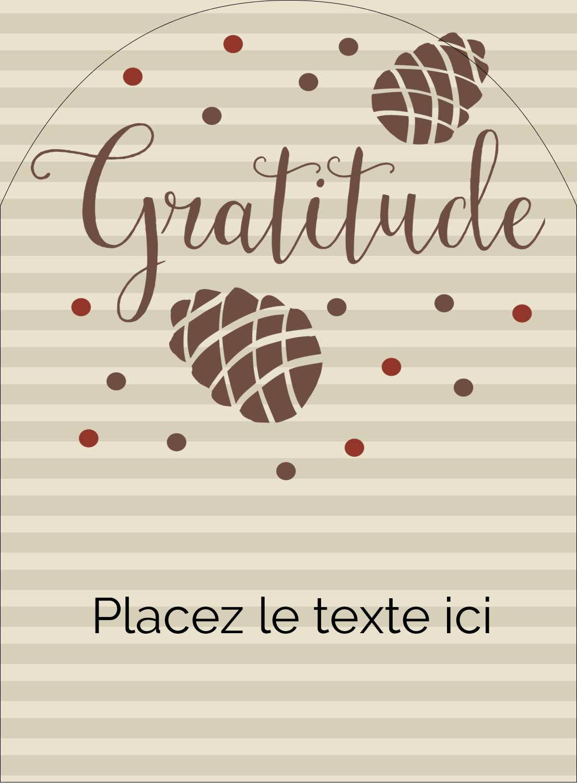 """4¾"""" x 3½"""" Étiquettes rectangulaires - Gratitude"""