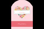 Cœurs et fleurs Étiquettes rectangulaires - gabarit prédéfini. <br/>Utilisez notre logiciel Avery Design & Print Online pour personnaliser facilement la conception.