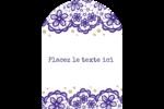 Mariage en dentelle violette Étiquettes rectangulaires - gabarit prédéfini. <br/>Utilisez notre logiciel Avery Design & Print Online pour personnaliser facilement la conception.
