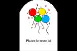 Quatre ballons Étiquettes arrondies - gabarit prédéfini. <br/>Utilisez notre logiciel Avery Design & Print Online pour personnaliser facilement la conception.