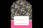 Fleurs modernes Étiquettes rectangulaires - gabarit prédéfini. <br/>Utilisez notre logiciel Avery Design & Print Online pour personnaliser facilement la conception.