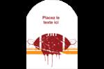 Football débraillée  Étiquettes arrondies - gabarit prédéfini. <br/>Utilisez notre logiciel Avery Design & Print Online pour personnaliser facilement la conception.