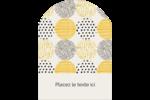 Cercles urbains jaunes Étiquettes rectangulaires - gabarit prédéfini. <br/>Utilisez notre logiciel Avery Design & Print Online pour personnaliser facilement la conception.
