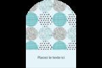 Cercles urbains bleus Étiquettes rectangulaires - gabarit prédéfini. <br/>Utilisez notre logiciel Avery Design & Print Online pour personnaliser facilement la conception.
