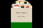 Sushis  Étiquettes rectangulaires - gabarit prédéfini. <br/>Utilisez notre logiciel Avery Design & Print Online pour personnaliser facilement la conception.