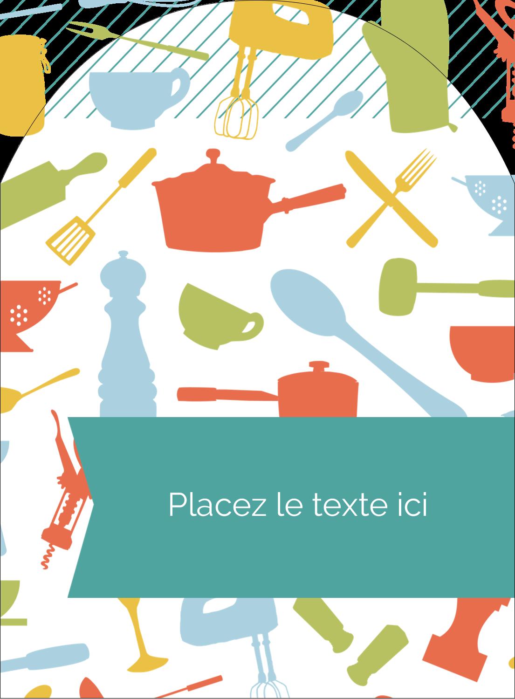 """4¾"""" x 3½"""" Étiquettes rectangulaires - Articles de cuisine"""
