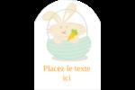 Panier de lapin Étiquettes arrondies - gabarit prédéfini. <br/>Utilisez notre logiciel Avery Design & Print Online pour personnaliser facilement la conception.