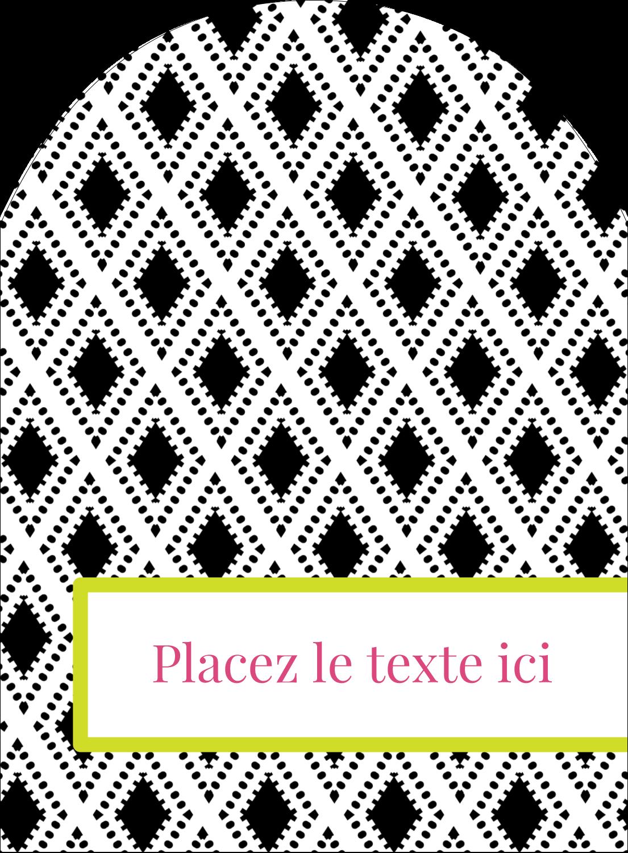 """4¾"""" x 3½"""" Étiquettes rectangulaires - Damas décoratif"""
