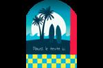 Surf tropical Étiquettes rectangulaires - gabarit prédéfini. <br/>Utilisez notre logiciel Avery Design & Print Online pour personnaliser facilement la conception.