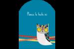 Hibou rusé Étiquettes rectangulaires - gabarit prédéfini. <br/>Utilisez notre logiciel Avery Design & Print Online pour personnaliser facilement la conception.