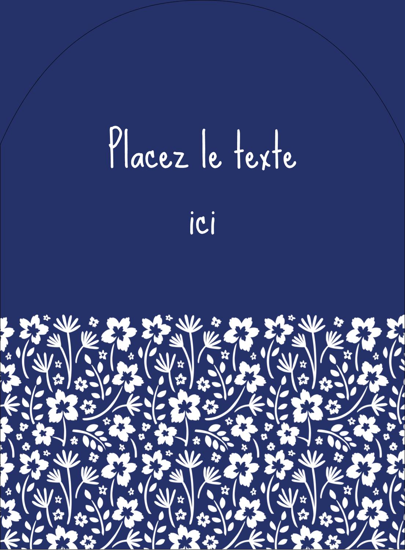 """4¾"""" x 3½"""" Étiquettes rectangulaires - Petit bouquet bleu"""