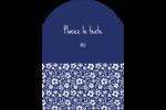 Petit bouquet bleu Étiquettes rectangulaires - gabarit prédéfini. <br/>Utilisez notre logiciel Avery Design & Print Online pour personnaliser facilement la conception.