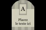 Initiale ex-libris Étiquettes arrondies - gabarit prédéfini. <br/>Utilisez notre logiciel Avery Design & Print Online pour personnaliser facilement la conception.