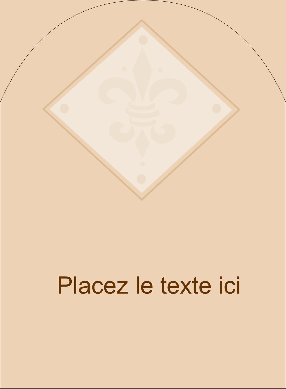 """4¾"""" x 3½"""" Étiquettes arrondies - Diamant beige"""