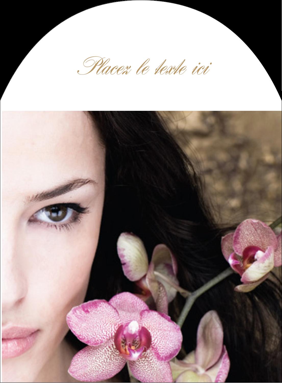 """4¾"""" x 3½"""" Étiquettes arrondies - Femme aux orchidées"""