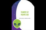 Fête d'extraterrestres Étiquettes arrondies - gabarit prédéfini. <br/>Utilisez notre logiciel Avery Design & Print Online pour personnaliser facilement la conception.