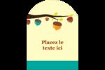 Branche de glands Étiquettes arrondies - gabarit prédéfini. <br/>Utilisez notre logiciel Avery Design & Print Online pour personnaliser facilement la conception.