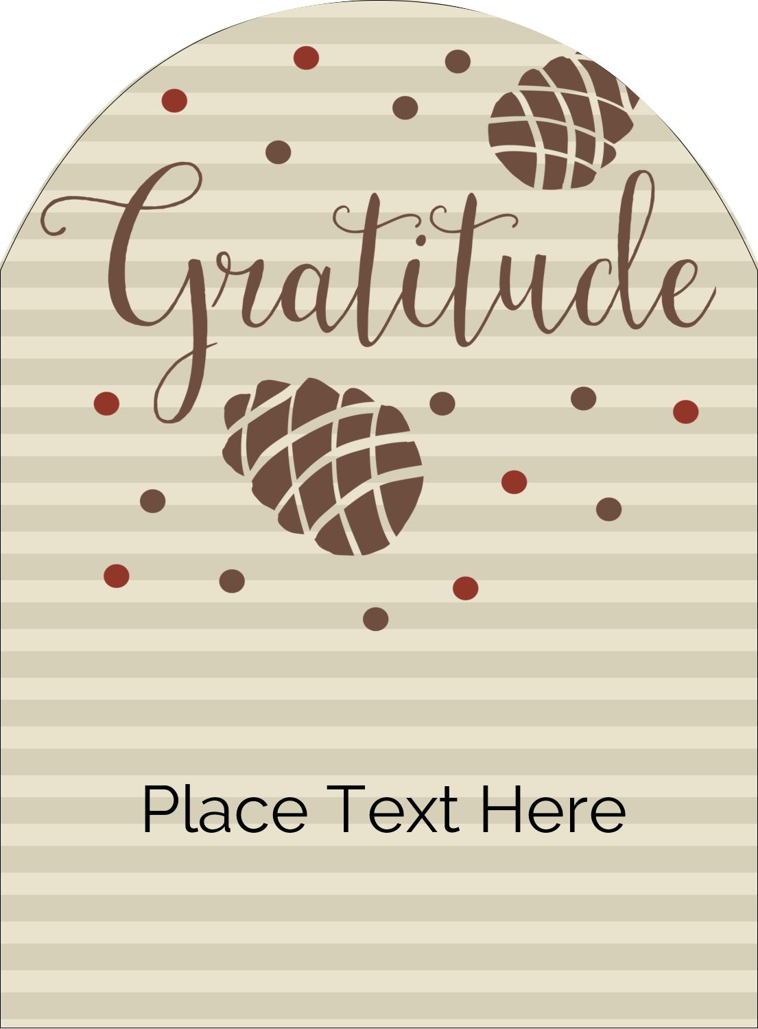 "4¾"" x 3½"" Arched Label - Thanksgiving Gratitude"