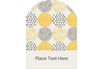 Add distinct charm to custom projects with pre-designed Urban Circles Yellow templates.