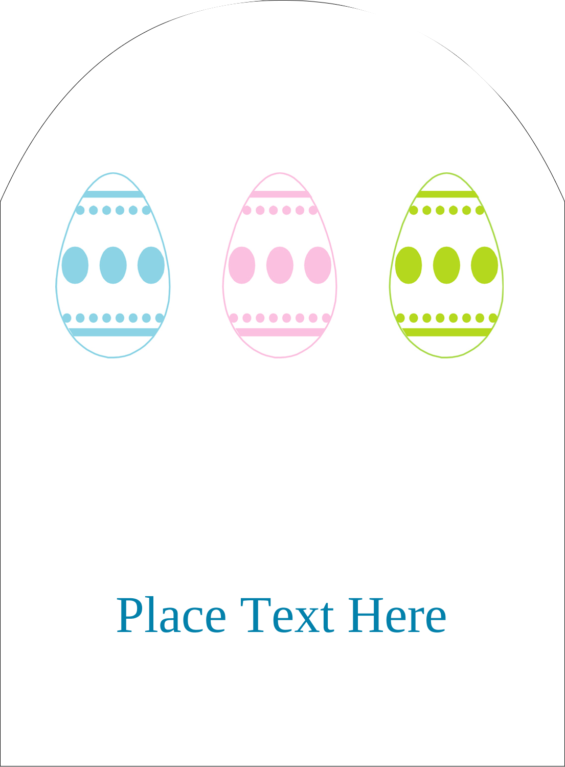 "4¾"" x 3½"" Arched Label - Easter Egg Trio"