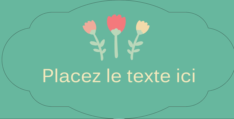 """8½"""" x 11"""" Étiquette Industrielles - Couronne florale"""