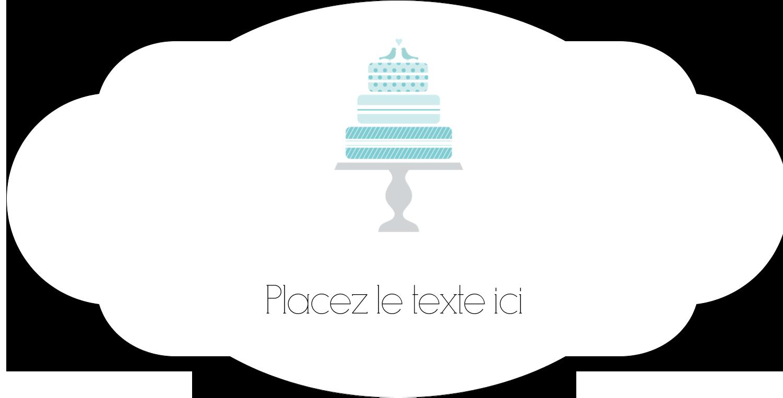 """8½"""" x 11"""" Étiquette Industrielles - Figurines d'oiseau bleu pour gâteau de noces"""