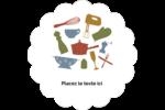 Articles de cuisine Étiquettes festonnées - gabarit prédéfini. <br/>Utilisez notre logiciel Avery Design & Print Online pour personnaliser facilement la conception.
