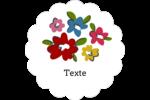 Fleurs printanières Étiquettes festonnées - gabarit prédéfini. <br/>Utilisez notre logiciel Avery Design & Print Online pour personnaliser facilement la conception.