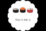 Sushis  Étiquettes festonnées - gabarit prédéfini. <br/>Utilisez notre logiciel Avery Design & Print Online pour personnaliser facilement la conception.