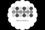 Cercles urbains jaunes Étiquettes festonnées - gabarit prédéfini. <br/>Utilisez notre logiciel Avery Design & Print Online pour personnaliser facilement la conception.