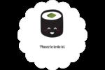 Émoticônes de sushis Étiquettes festonnées - gabarit prédéfini. <br/>Utilisez notre logiciel Avery Design & Print Online pour personnaliser facilement la conception.