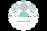 Cercles urbains bleus Étiquettes festonnées - gabarit prédéfini. <br/>Utilisez notre logiciel Avery Design & Print Online pour personnaliser facilement la conception.