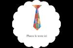 Cravate de la Fête des Pères Étiquettes festonnées - gabarit prédéfini. <br/>Utilisez notre logiciel Avery Design & Print Online pour personnaliser facilement la conception.