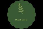Rameau d'olivier  Étiquettes festonnées - gabarit prédéfini. <br/>Utilisez notre logiciel Avery Design & Print Online pour personnaliser facilement la conception.