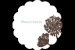 Silhouette de fleur Étiquettes festonnées - gabarit prédéfini. <br/>Utilisez notre logiciel Avery Design & Print Online pour personnaliser facilement la conception.