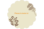Illustrations florales Étiquettes festonnées - gabarit prédéfini. <br/>Utilisez notre logiciel Avery Design & Print Online pour personnaliser facilement la conception.