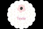 Fleurs modernes Étiquettes festonnées - gabarit prédéfini. <br/>Utilisez notre logiciel Avery Design & Print Online pour personnaliser facilement la conception.