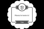 Logo simple Étiquettes festonnées - gabarit prédéfini. <br/>Utilisez notre logiciel Avery Design & Print Online pour personnaliser facilement la conception.
