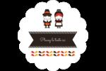 Pèlerins de l'Action de grâce Étiquettes festonnées - gabarit prédéfini. <br/>Utilisez notre logiciel Avery Design & Print Online pour personnaliser facilement la conception.