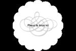 Monogramme de mariage Étiquettes festonnées - gabarit prédéfini. <br/>Utilisez notre logiciel Avery Design & Print Online pour personnaliser facilement la conception.