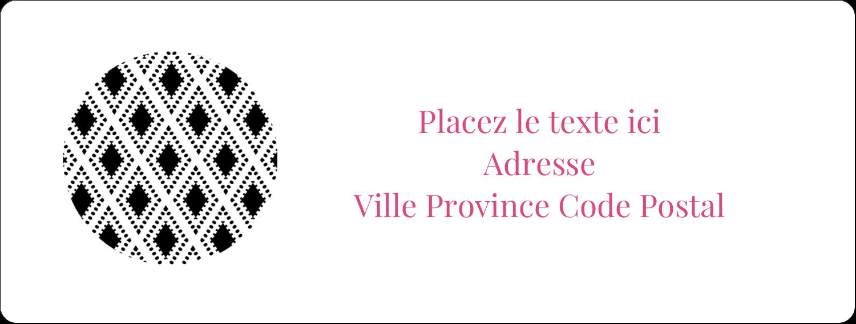 """1"""" x 4"""" Étiquettes d'adresse - Damas décoratif"""